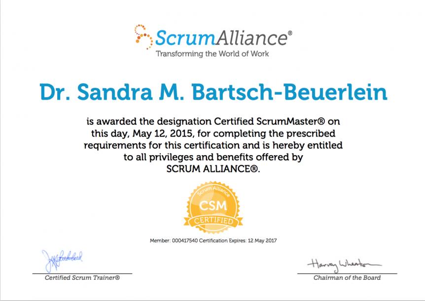 SBB-Scrum-Zertifikat